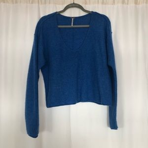 FREE PEOPLE cashmere blue sweater